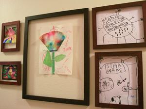 kids artwork display - Kids Art Frame