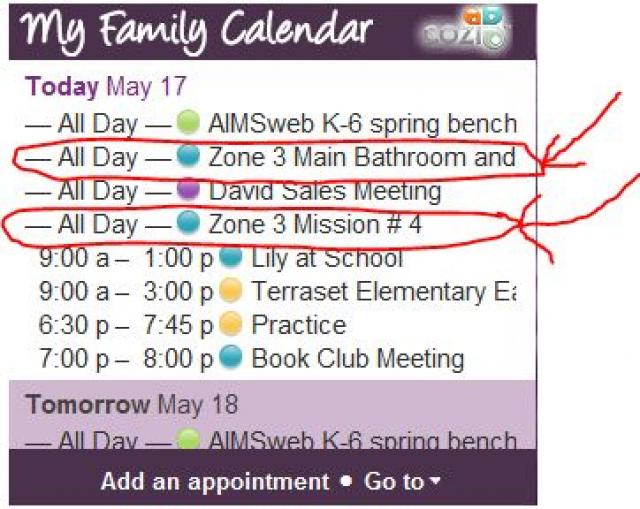 How To Add Flylady Missions And Zones To Your Calendar And To Do Lists Cozi Family Organizer