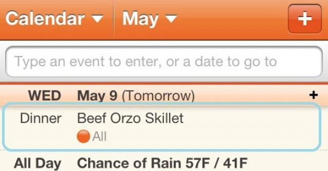 You Asked, We Delivered: Cozi Meal Plans Now Visible in Mobile Apps Through Your Calendar
