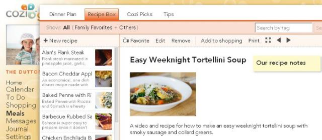 A Chart Topping List Of Recipes Added To Cozi Meals From Other Recipe Websites