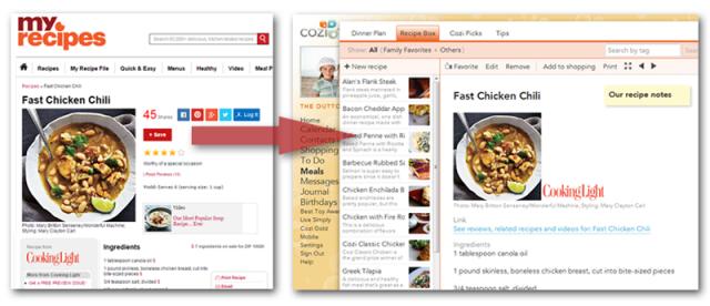 MyRecipes.com Now Integrates with Cozi!