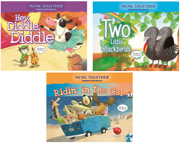 NAPPA Best Gifts for Kids - Music Together Singalong Storybooks: Hey, Diddle Diddle, Ridin' in the Car and Two Little Blackbirds Music Together