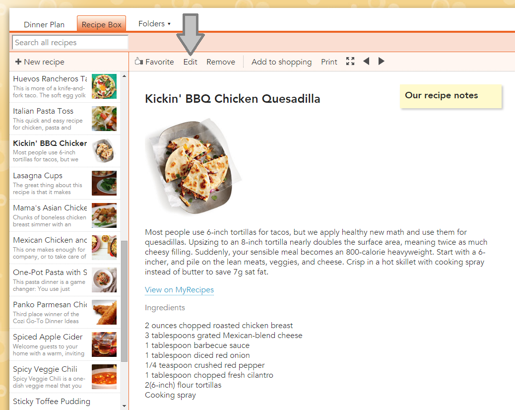 Cozi Meal Folder Recipe Box 1
