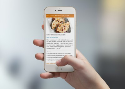 Cozi App Recipe Box on Phone