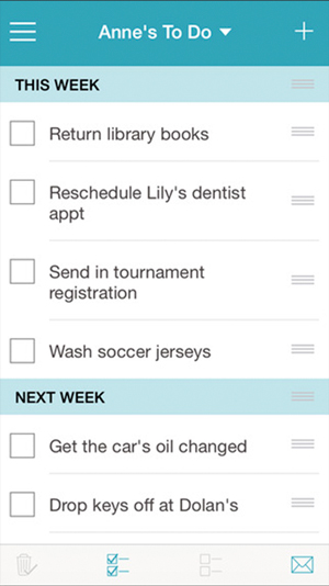 Cozi App To Do List