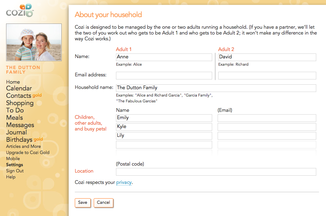 Getting Started With Cozi On The Web Cozi Family Organizer