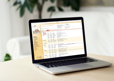 Web Calendar on Computer