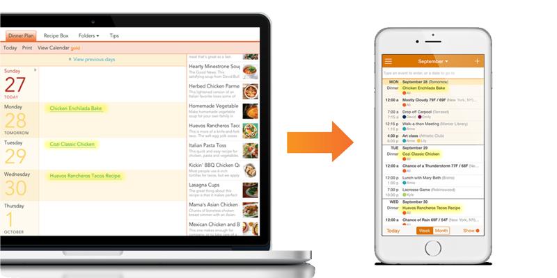 Image result for Cozi Recipe & Dinner Planner: