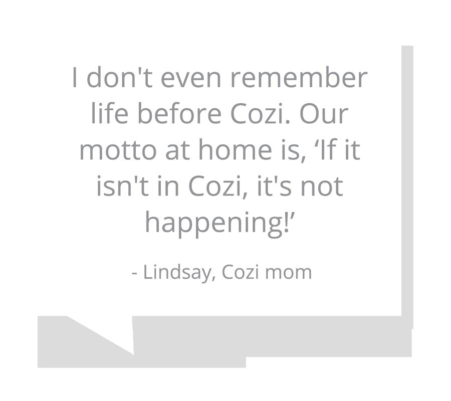Lindsay, Cozi mom