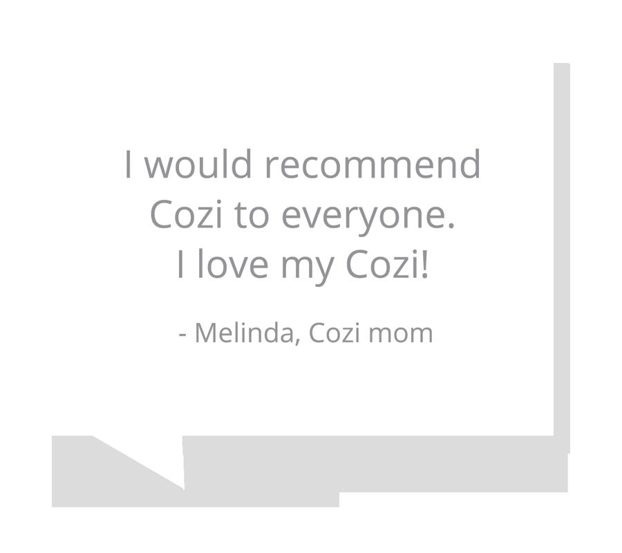 Melinda, Cozi mom