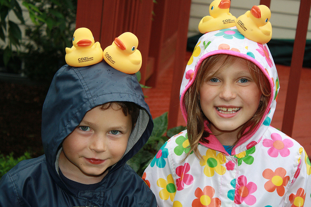 Ducks on the head