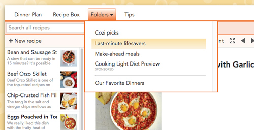 Getting started with cozi meals cozi family organizer on the web in recipe box forumfinder Gallery