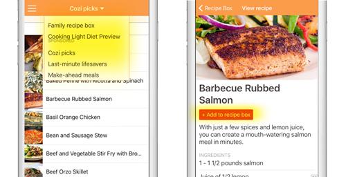 Recipe Box Folders in App
