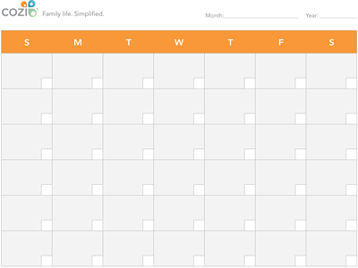 image relating to Printable Calendar Months named Printable Calendar - Manufactured for Households