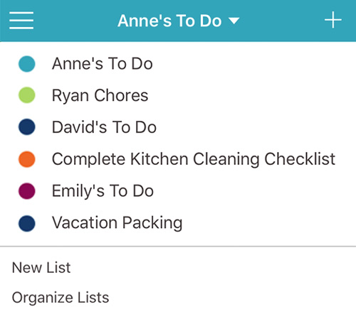 To Do List organization