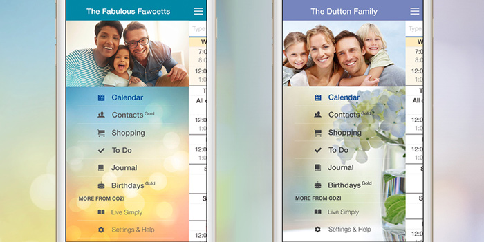 Two beautiful themes to customize your Cozi app