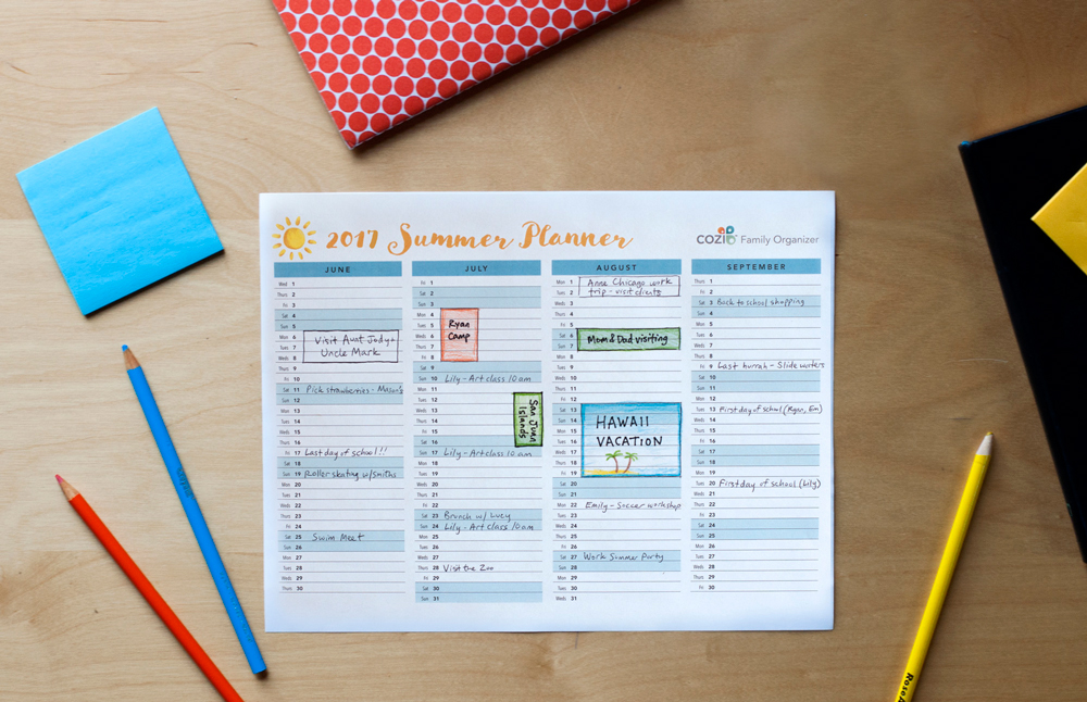 Printable Calendar - Designed for Families