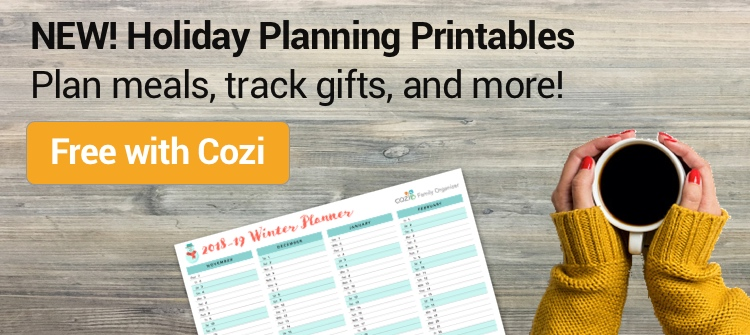 Winter Planners - now free with Cozi!