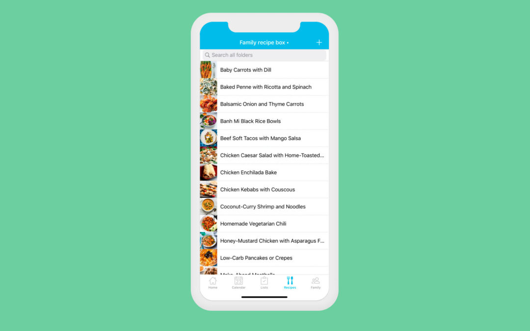 Meal Planning from your Cozi Mobile App
